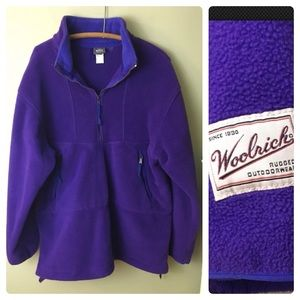Woolrich 1/2 Zip Fleece Pullover Jacket Purple